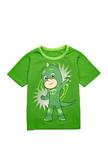 PJ Masks Boys 2-7 Short Sleeve Gekko T-Shirt with Cape