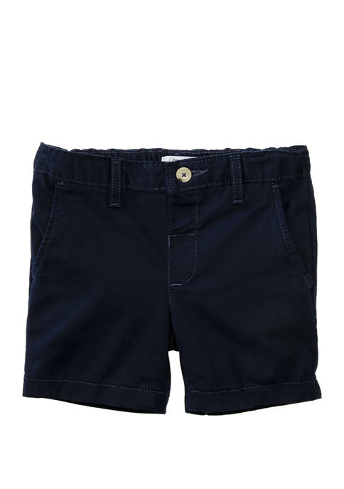 Crown & Ivy™ Toddler Boys Navy Twill Shorts