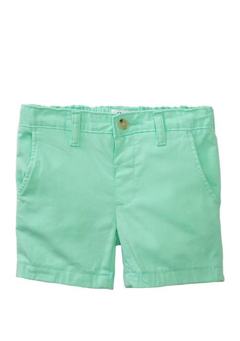 Crown & Ivy™ Toddler Boys Twill Aqua Shorts