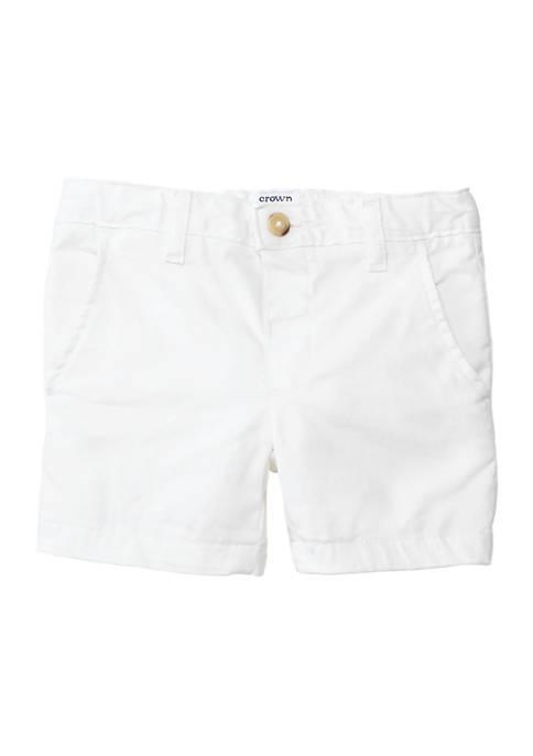 Crown & Ivy™ Boys 4-7 Twill Shorts