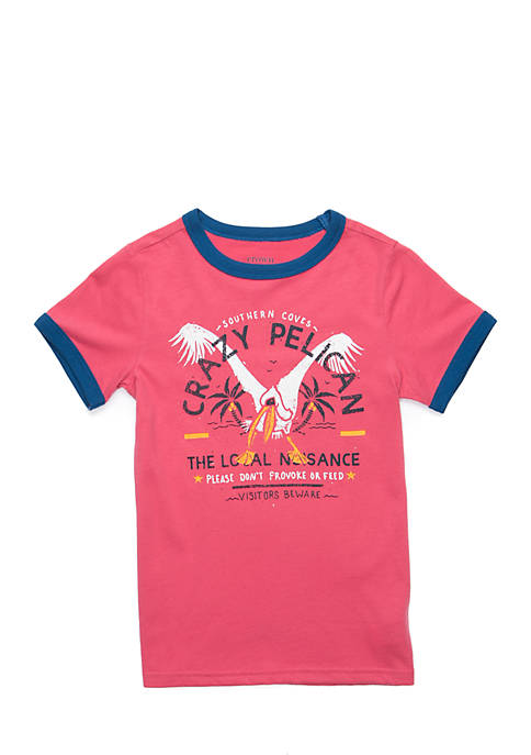 Crown & Ivy™ Toddler Boys Short Sleeve Ringer