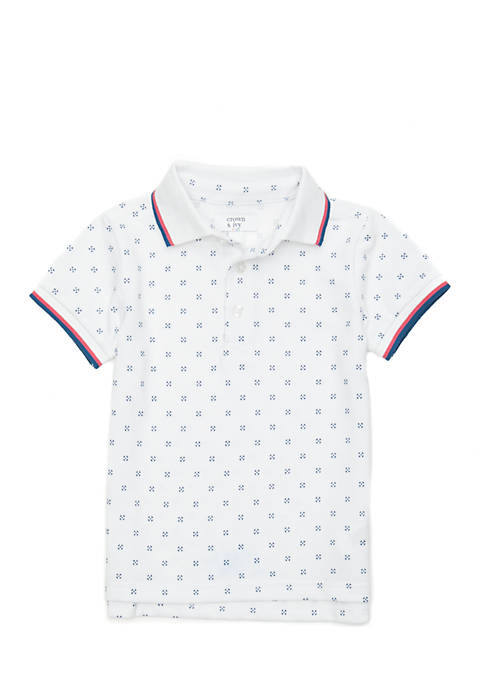 Crown & Ivy™ Toddler Boys Short Sleeve Polo