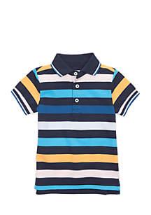 Toddler Boys Short Sleeve Flat Knit Polo