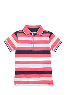 Crown & Ivy™ Toddler Boys Short Sleeve Flat Knit Polo