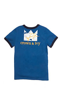 Crown & Ivy™ Boys 2-4 Ringer Graphic Tee