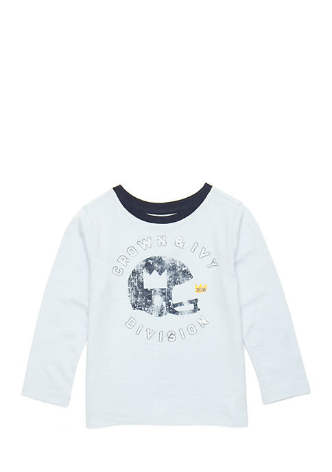 Crown & Ivy™ Toddler Boys Long Sleeve Tee