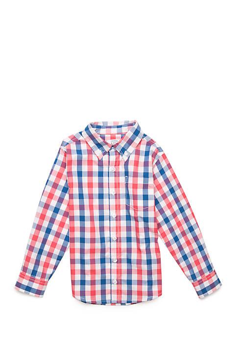 Boys 4-7 No Pocket Long Sleeve Woven Shirt