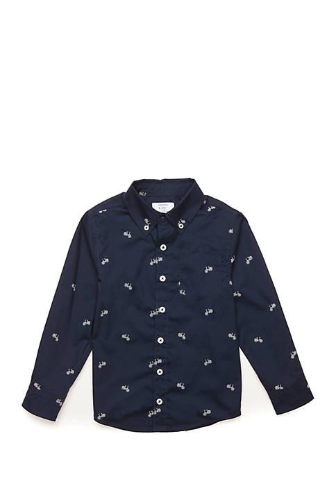 Crown & Ivy™ Toddler Boys Long Sleeve Woven