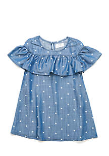 Toddler Girls Chambray Dress