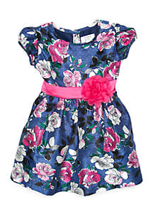 Toddler Girls Short Sleeve Party Dress