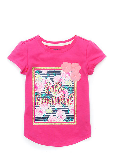 Crown & Ivy™ Toddler Girls 4-6x Short Sleeve
