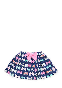 Toddler Girls Knit Bow Skirt