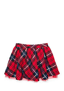 Toddler Girls Woven Tulle Skirt