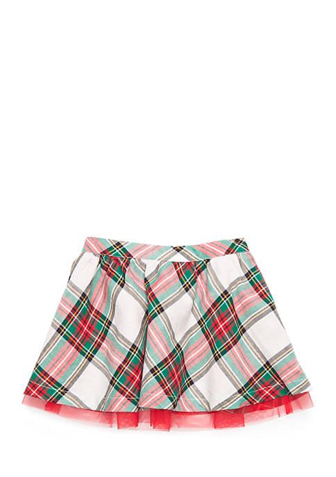 Crown & Ivy™ Toddler Girls Woven Tulle Skirt