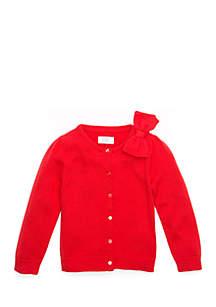 Crown & Ivy™ Toddler Girls Bow Shoulder Cardigan
