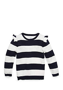 Crown & Ivy™ Toddler Girls Flutter Sleeve Sweater