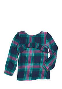 Crown & Ivy™ Toddler Girls Ruffle Yoke Blouse