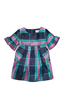 Infant Girls Woven Ruffle Dress