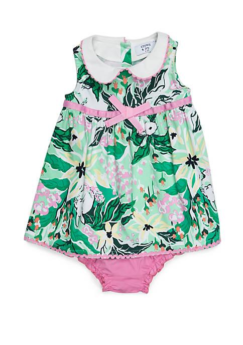 Crown & Ivy™ Baby Girls Peter Pan Collar