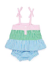 Crown & Ivy™ Baby Girls 3 Tier Dress Set