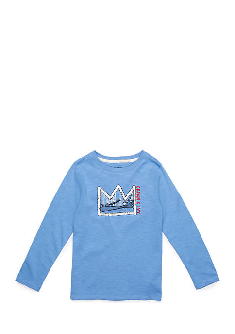 Toddler Boys Long Sleeve Graphic Crew