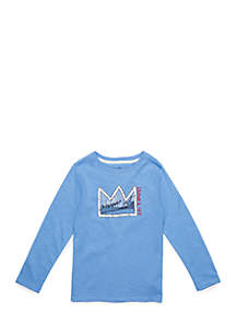 Crown & Ivy™ Toddler Boys' Long Sleeve Graphic Crew
