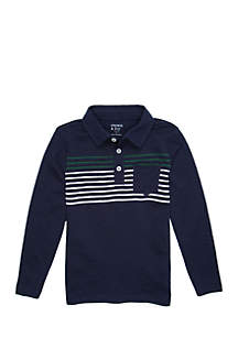 Toddler Boys' Long Sleeve Polo with Pocket