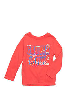 Crown & Ivy™ Toddler Boys Long Sleeve Crew Neck Tee