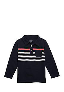 Crown & Ivy™ Toddler Boys 4-8 Long Sleeve Pocket Polo