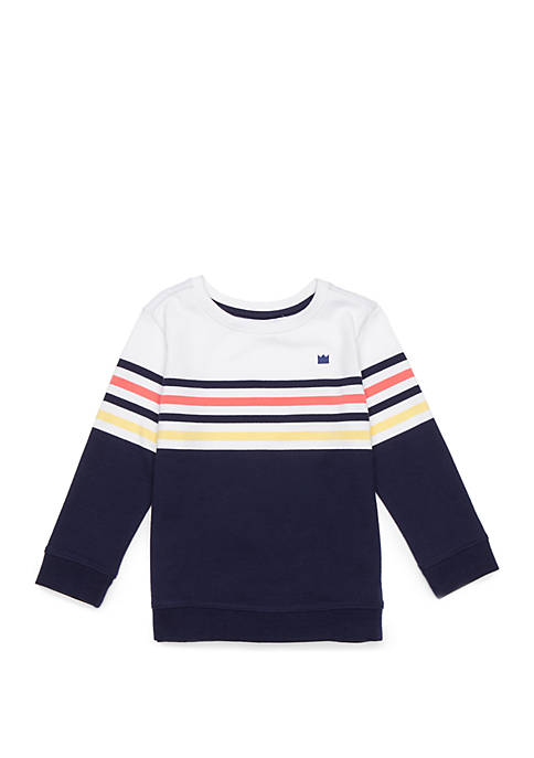Crown & Ivy™ Toddler Boys Long Sleeve Pullover