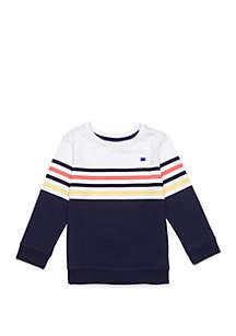 Toddler Boys Long Sleeve Pullover Crew Neck Tee