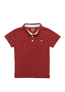 Crown & Ivy™ Toddler Boys Short Sleeve Polo Shirt