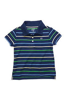 Crown & Ivy™ Toddler Boys Polo Shirt with Flat Knit Collar