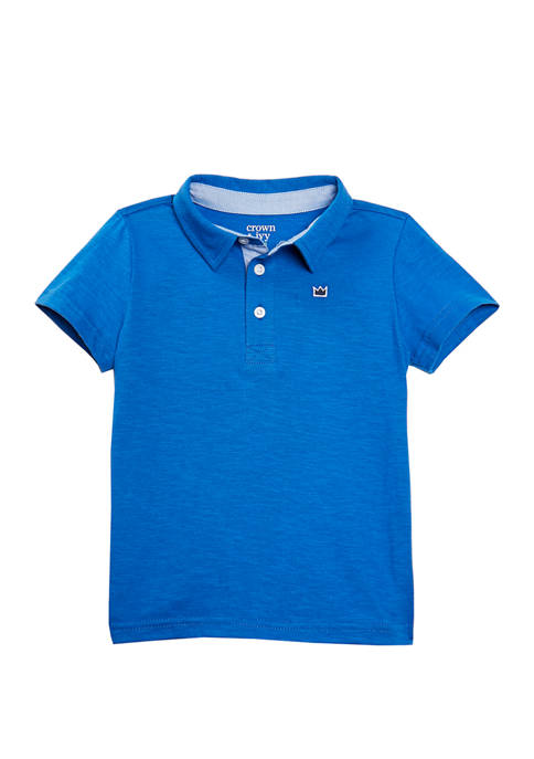 Crown & Ivy™ Toddler Boys Jersey Polo Shirt