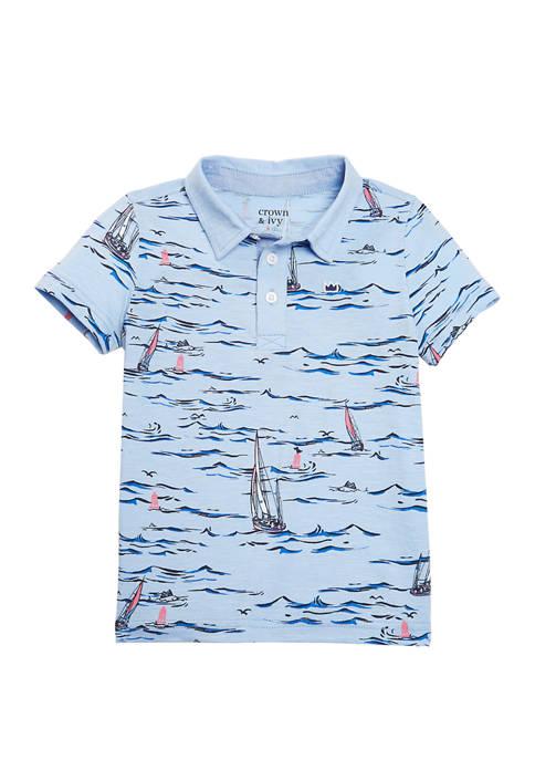 Crown & Ivy™ Toddler Boys Short Sleeve Print