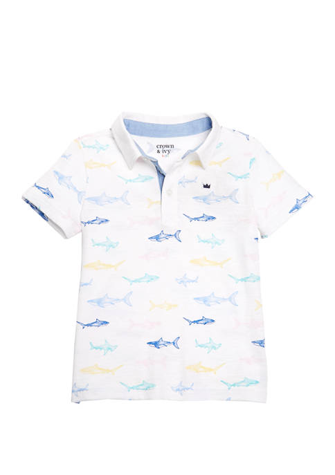 Crown & Ivy™ Toddler Boys Short Sleeve Print