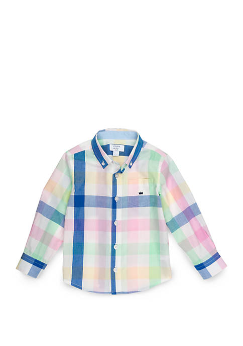 19ebe7c58 Crown   Ivy™ Toddler Boys Pocket Woven Shirt