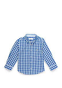 Crown & Ivy™ Toddler Boys Pocket Woven Shirt