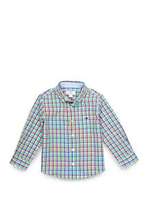 Crown & Ivy™ Toddler Boys Long Sleeve Pocket Woven Shirt