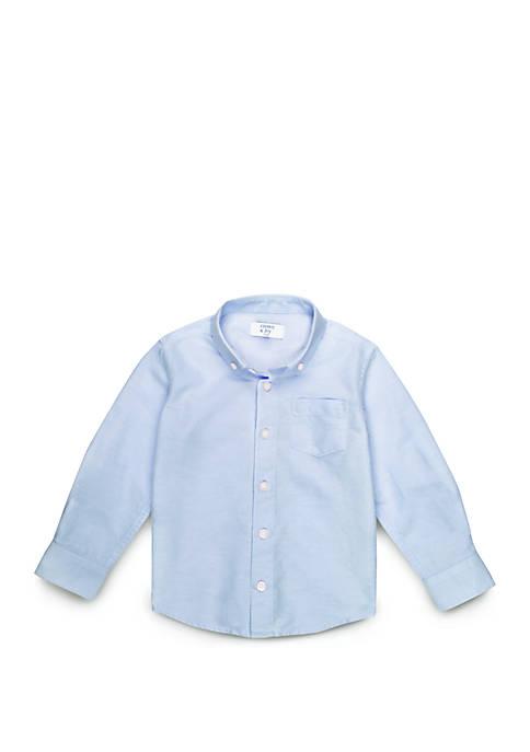 Toddler Boys Long Sleeve Oxford Shirt