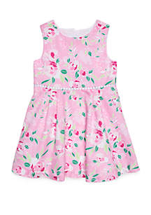 Crown & Ivy™ Toddler Girls Bow Back Dress