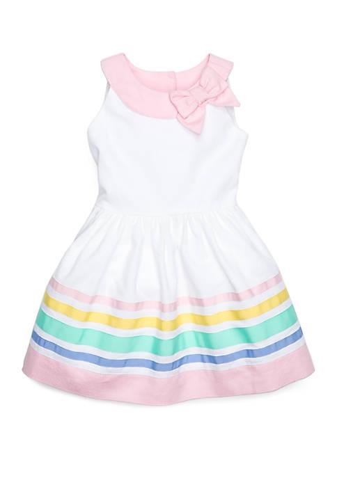Toddler Girls Border Dress