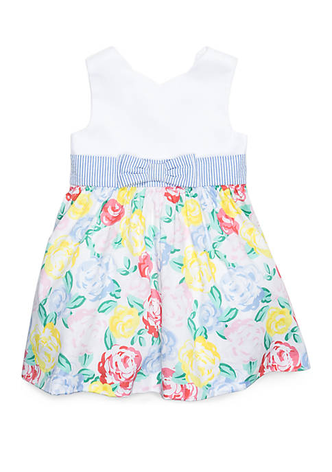 Crown & Ivy™ Toddler Girls Scallop Neck Dress