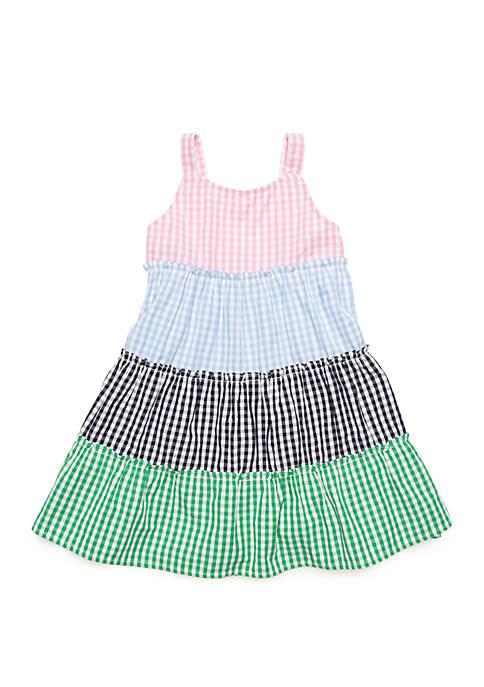 Crown & Ivy™ Toddler Girls Sleeveless Mixed Gingham