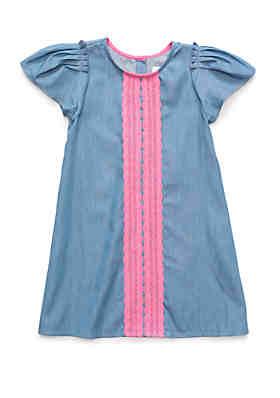 de1717b307be2 Crown & Ivy™ Toddler Girls Crochet Front Dress ...