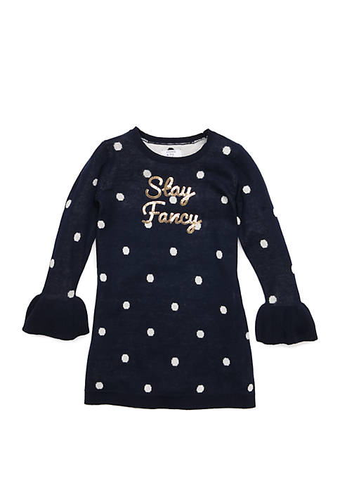 Crown & Ivy™ Toddler Girls Long Sleeve Sweater