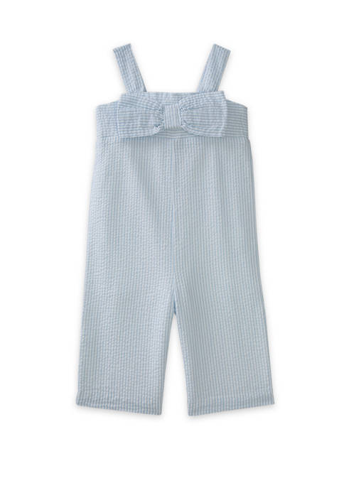 Toddler Girls Bow Jumpsuit