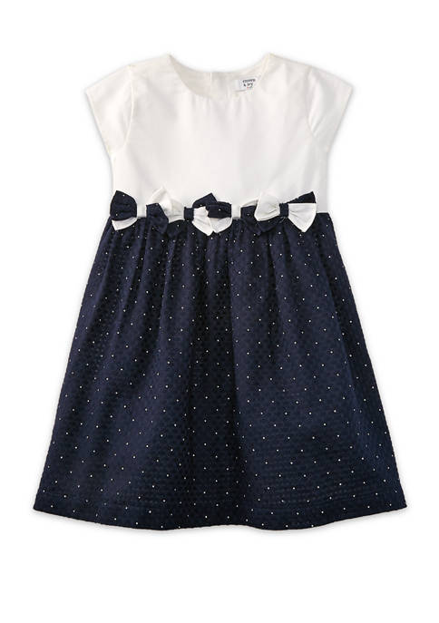 Crown & Ivy™ Toddler Girls Mixed Bow Dress