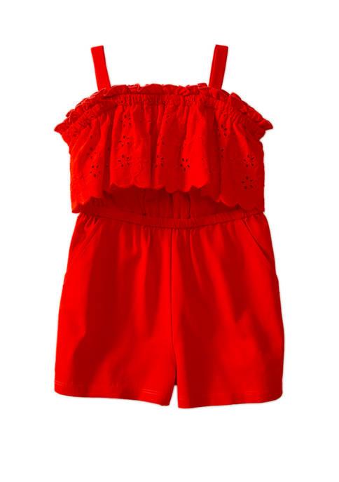 Crown & Ivy™ Toddler Girls Knit Romper