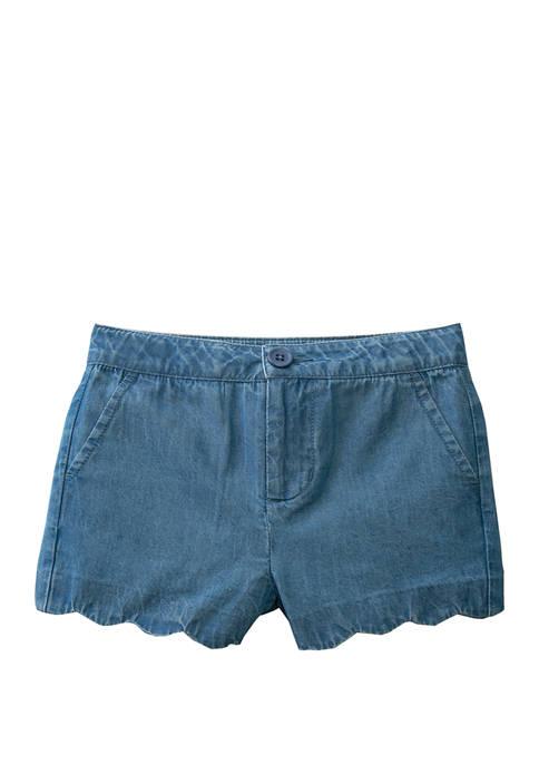 Crown & Ivy™ Toddler Girls Scallop Shorts